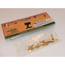 3,5 mm Goldkontaktstecker m+w. hartvergoldet 5 Paar