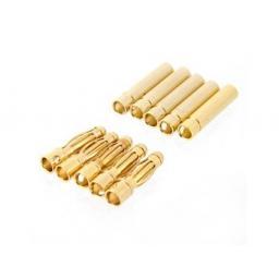 4 mm Goldkontaktstecker m+w. hartvergoldet 5 Paar