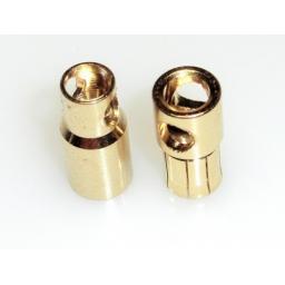 6 mm Goldkontaktstecker m+w. hartvergoldet 1 Paar