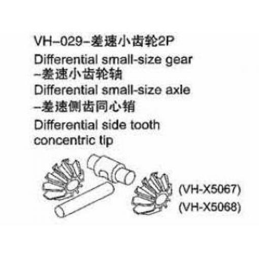VH36 - Differntial- Kegelzahnräder + Achse