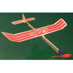 Czajka Gummimotormodell Saalflieger Indoor Flugzeug z.B. Bausatz f. Kinder Werkset Bastelset ab 11 Jahren