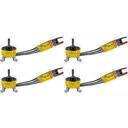 4x Brushless-Set Motor 4010 750 KV und 40 A Regler