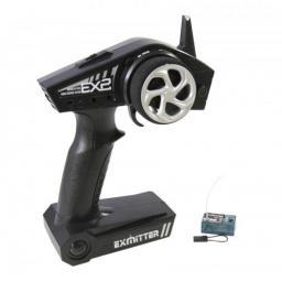 EX2 2,4 GHz Fernsteuerung Pistolengriff 2-Kanal inkl. 3-Kanal Empfänger