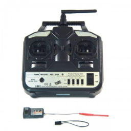 Monstertronic 2,4 GHz 4-Kanal Fernsteuerung inkl. 6-Kanal-Empfänger für Modellflugzeuge, Boote, etc. - MT-T4B
