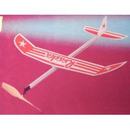 Kraska Gummimotormodell Saalflieger Indoor Flugzeug z.B. 460 mm Bausatz f. Kinder Werkset Bastelset ab 11 Jahren