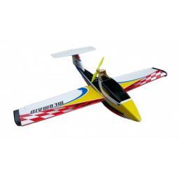 arkai Mermaid Wasserflugzeug Schneerutscher - 1200 mm Spannweite - Gelb / Rot