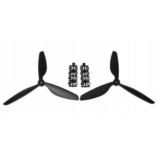 1 Paar 9 x 4,5 Dreiblatt Propeller (1x CW, 1x CCW) Schwarz