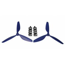 1 Paar 9 x 4,5 Dreiblatt Propeller (1x CW, 1x CCW) Blau