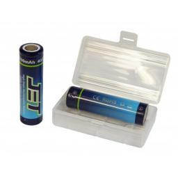 2 Stk. 18650 AKKU 3100 mAh LiMn m. Batteriebox 8C 3.7 V 3100 mAh 40A
