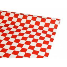 Bügelfolie rot-weiß kariert - 1 Meter