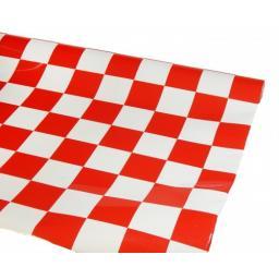 Bügelfolie HELL rot-weiß kariert - 1 Meter