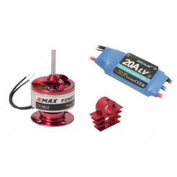 Parkfly Brushless Set Außenläufer bis zu 850 g Schub & 20 A Regler