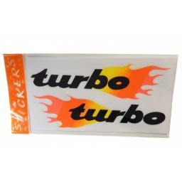 Decal TURBO Flames 135 x 260mm 2 Stk.