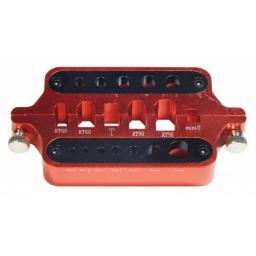 Lötstation aus ALU für ALLE RC - Anschlußbuchsen - Goldkontakt 2-8 mm, XT60, T-Plug usw.