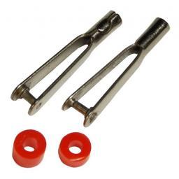 2 Stk. Metall Gabelkopf für M2 Gewindestangen