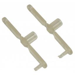 2 Stk. Nylon Gabelkopf 22 mm  für 3 mm Anlenkstangen