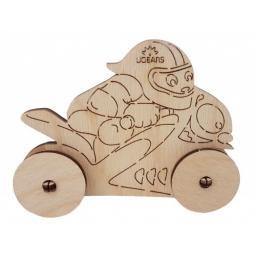 Holz Motorrad zum Zusammenbauen und Bemalen