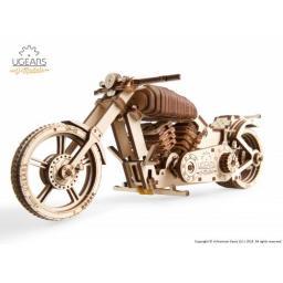 Motorrad Holz mechanisch zum Stecken ohne Klebstoff