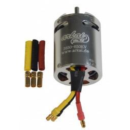 Brushless Motor D3850 650 KV Außenläufer als Innenläufer gekapselt im Alumantel MIT Vieeeel Power! - Nie wieder scheuernde Drähte!