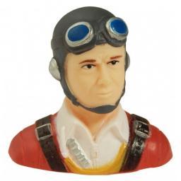 Pilot KLASSISCH- rotes Hemd m. Cappy grau