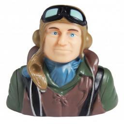 II WW - Pilot Modell Braun (blauer Schal)