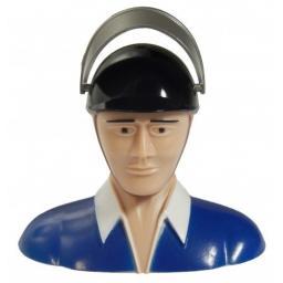 Pilot Modell LEICHT - weißer Kragen - blaues Hemd