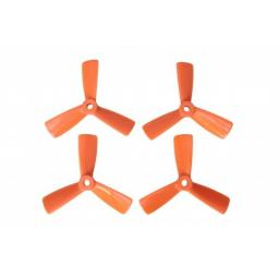 3 x 4,5 3-Blatt Propeller 4 Stk. 2x links- und 2x rechtsdrehend - Orange - verbesserte Version effizienter als Gemfan