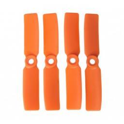 3,5 x 4,5 Propeller 4 Stk. 2x links- und 2x rechtsdrehend - Orange - verbesserte Version effizienter als Gemfan