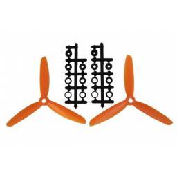 5x3 Dreiblatt Prop für Quad/Multicopter - Orange verbesserte Version effizienter als Gemfan
