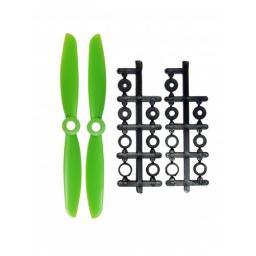 5 x 4,5 Propeller 2 Stk. 1x links- und 1x rechtsdrehend - Grün - verbesserte Version effizienter als Gemfan