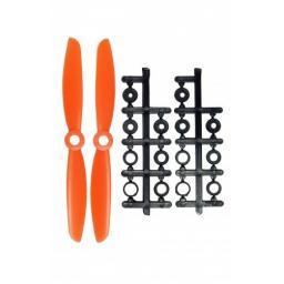 5 x 4,5 Propeller 2 Stk. 1x links- und 1x rechtsdrehend - Orange - verbesserte Version effizienter als Gemfan