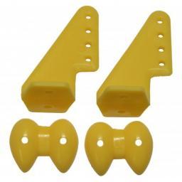 Ruderhorn-Set 20 x 27 gelb - 1 Paar