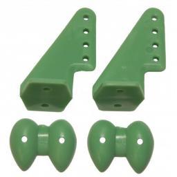 Ruderhorn-Set 20 x 27 grün - 1 Paar
