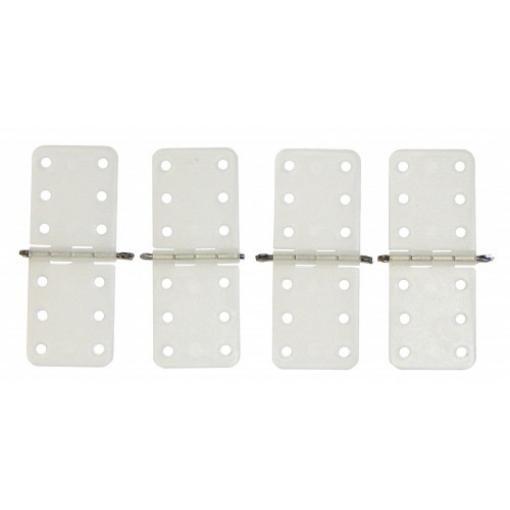 4 Stk. Ruderscharnier Nylon 11 x 28 mm