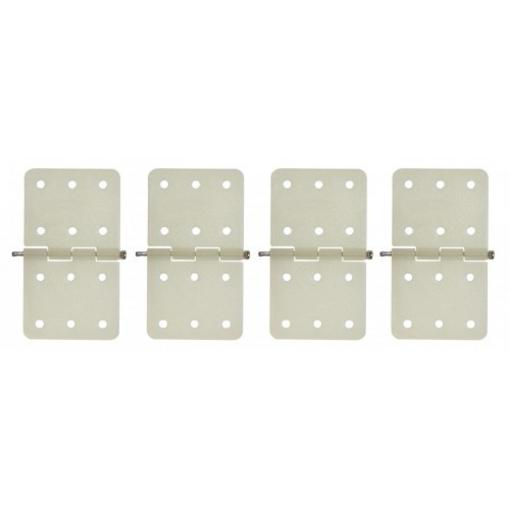 4 Stk. Ruderscharnier Nylon 16 x 28 mm
