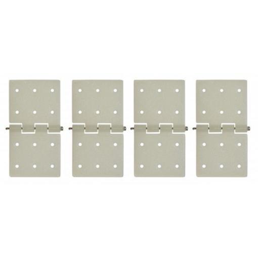 4 Stk. Ruderscharnier Nylon 20 x 36 mm