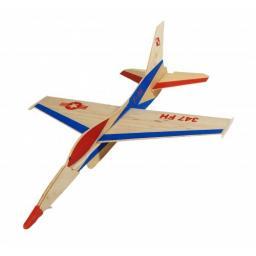 F16 Wurfgleiter Saalflieger Indoor Flugzeug z.B. 300 mm Bausatz f. Kinder Werkset Bastelset