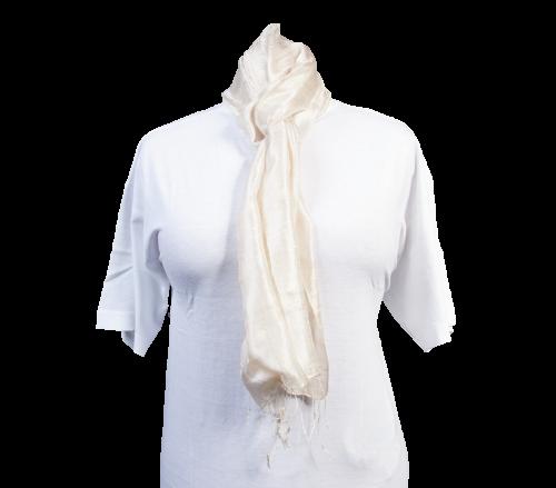 Schal aus 100% Rohseide Beige