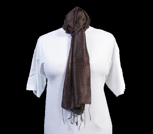 Schal aus 100% Rohseide Braun