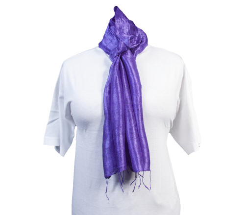 Schal aus 100% Rohseide Lila