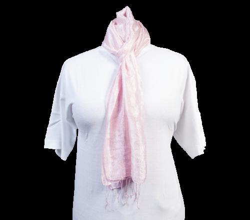 Schal aus 100% Rohseide Rosa