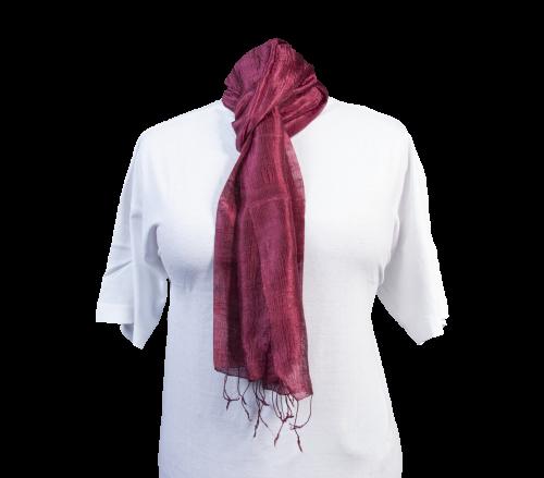 Schal aus 100% Rohseide Rot
