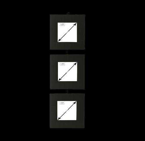 Bilderrahmen, Schwarz, Seide, für 3 Bilder
