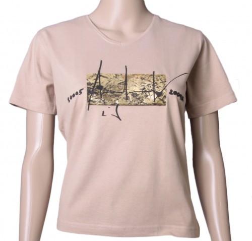 Up in Space - v. Charles Wilp - KUNST T-Shirt Limited Edition NUR 50 Stk. Sammelwürdig! (S, Mocca)