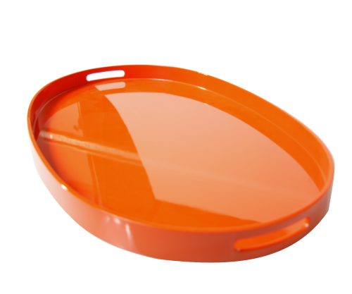 Tablett, Oval, 70 x 40 cm, Orange