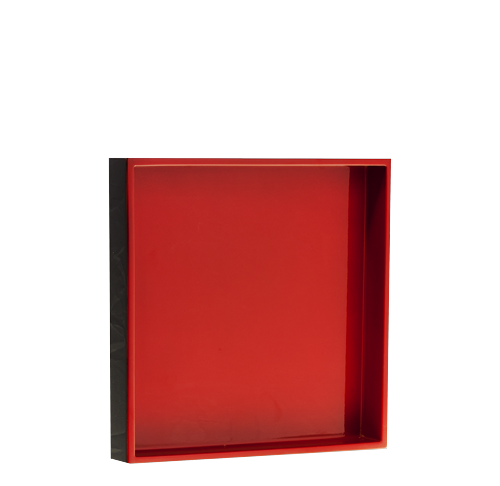 LAQ Design - Tablett Holz Pianolack 20x20 cm Hellrot