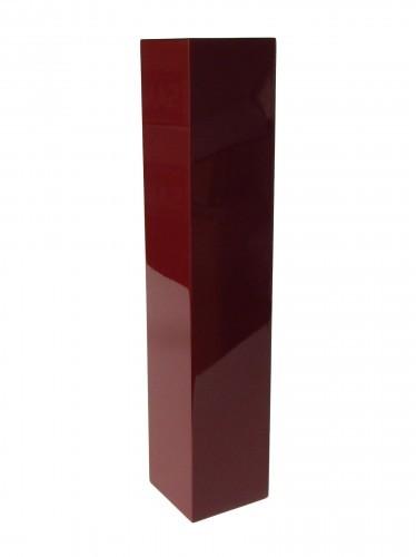 Vase 50 cm hoch - Holz - Pianolack - Dunkelrot