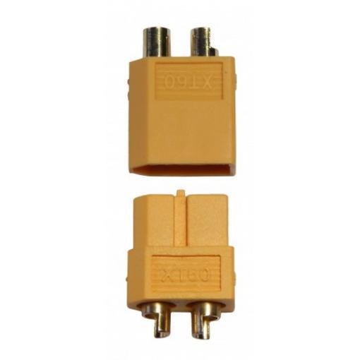 Hochstrom Stecker XT60, 1 x Stecker u. 1 x Buchse
