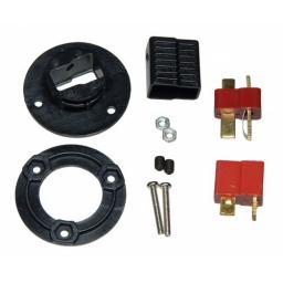 T-Stecker - Verbinder m. Gegenplatte für Tragflächen uvm. inkl. 1 Paar T-Stecker