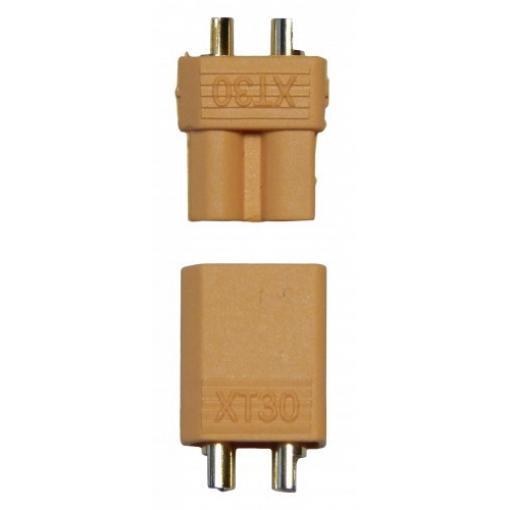 Hochstrom Stecker XT30, 1 x Stecker u. 1 x Buchse